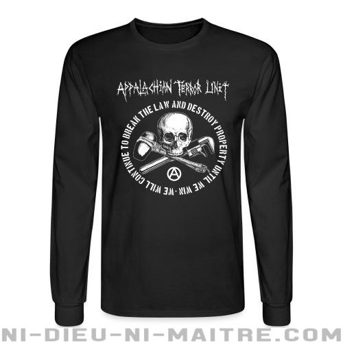 Appalachian Terror Unit - We will continue to break the law and destroy property until we win - Chandails à manches longues Band Merch