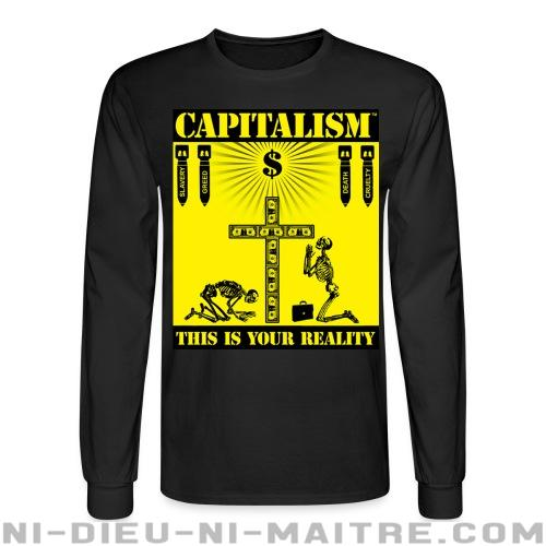 Capitalism - this is your reality - Chandails à manches longues Militant