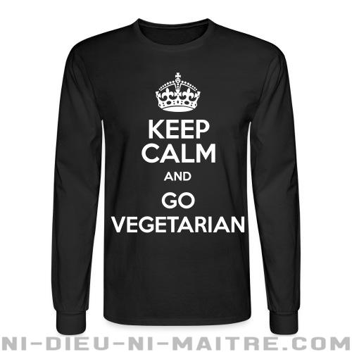 Keep calm and go vegetarian - Chandails à manches longues véganes et libération animale