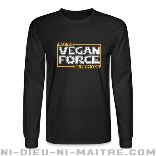 May the vegan force be with you - Chandails à manches longues véganes et libération animale