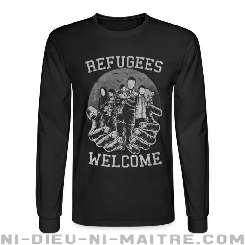 Chandail à manches longues Refugees Welcome - Stop war