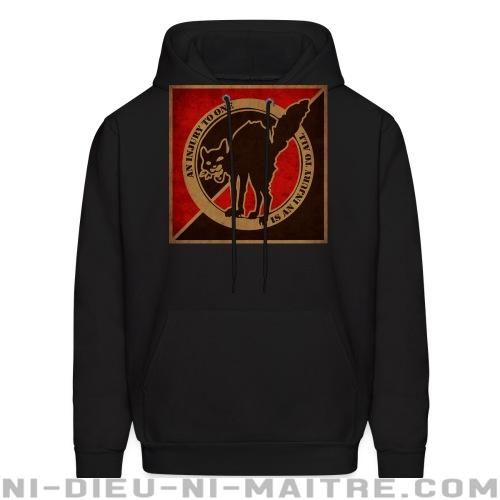 An injury to one is an injury to all - Sweat à capuche (Hoodie) Militant