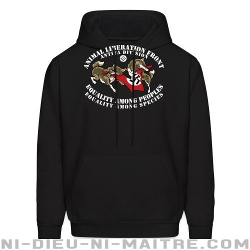 Animal Liberation Front antifa division - equality among peoples, equality among species - Sweat à capuche (Hoodie) véganes et libération animale