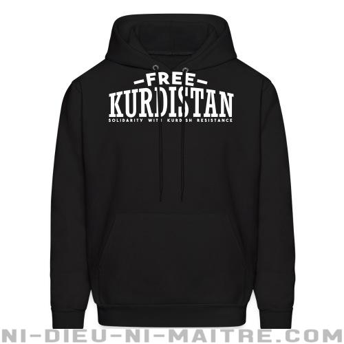 Free Kurdistan! Solidarity with kurdish resistance - Sweat à capuche (Hoodie) Rojava