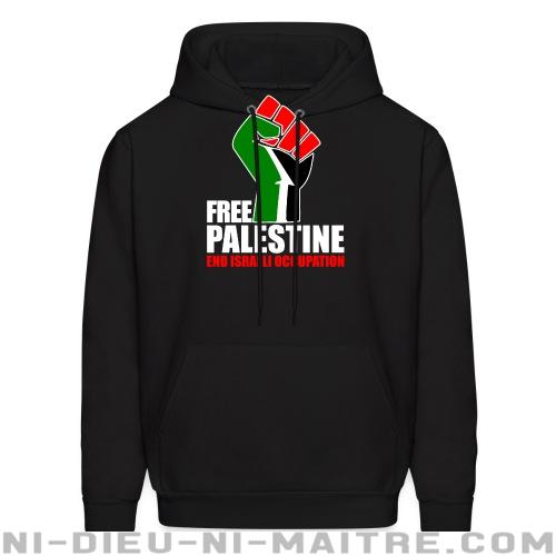 Free palestine end israeli occupation - Sweat à capuche (Hoodie) anti-guerre