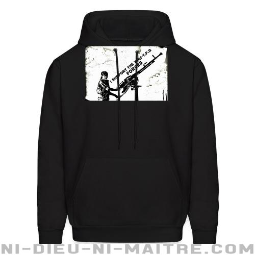 I support the YPJ-YPG forces - Sweat à capuche (Hoodie) Rojava
