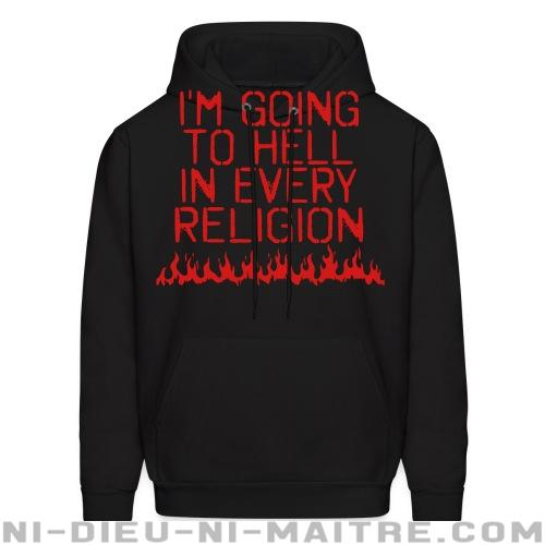 I'm going to hell in every religion - Sweat à capuche (Hoodie) Athé