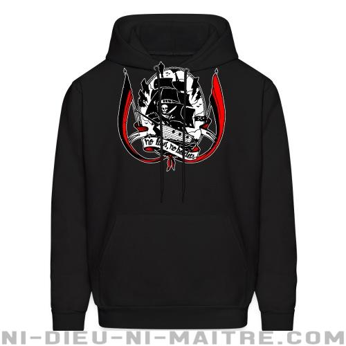 No laws, no borders - Sweat à capuche (Hoodie) Militant