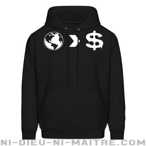 Our planet is more important than their profits - Sweat à capuche (Hoodie) Environnementaliste