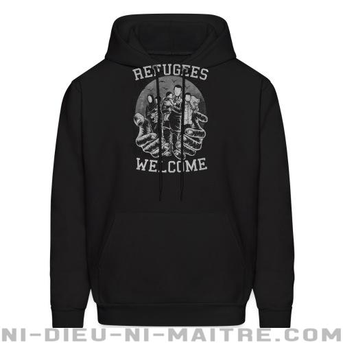 Refugees Welcome - Sweat à capuche (Hoodie) anti-guerre