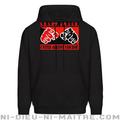 SHARP & RASH united against fascism! - Sweat à capuche (Hoodie) Anti-Fasciste
