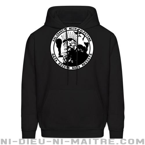 Solidarity with Palestine - gaza exists, gaza resists - Sweat à capuche (Hoodie) anti-guerre