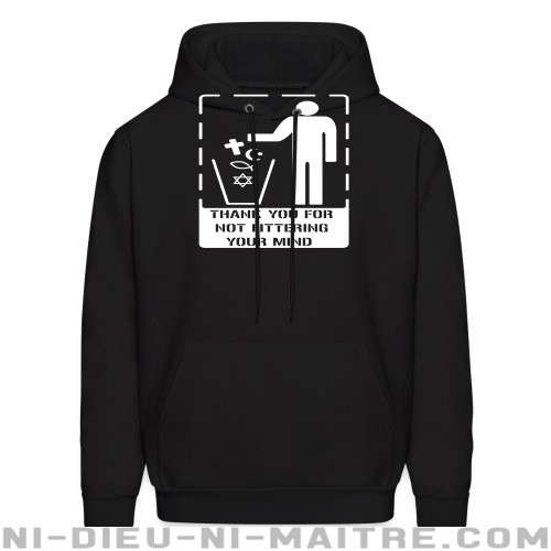 Thank you for not littering your mind - Sweat à capuche (Hoodie) Athé
