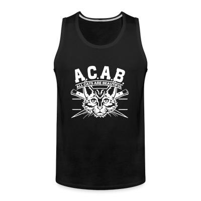 Débardeur homme A.C.A.B. All Cats Are Beautiful