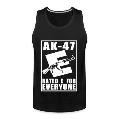 Débardeur homme AK-47 - Rated E for Everyone