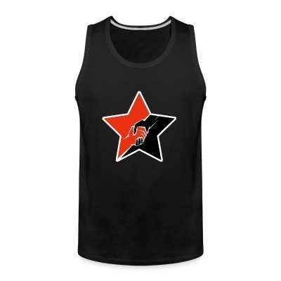 Débardeur homme Anarcho-Communist Red & Black Star