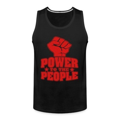 Débardeur homme Power to the people