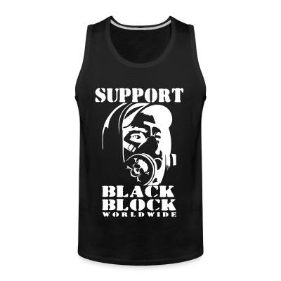 Débardeur homme Support black block worldwide