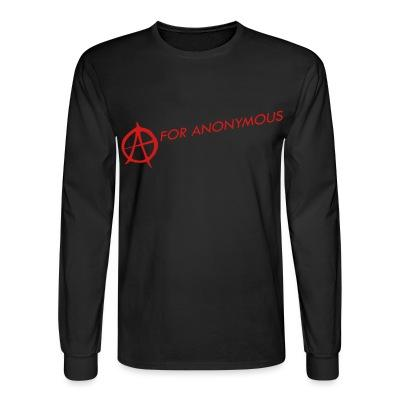 Manches longues A for anonymous
