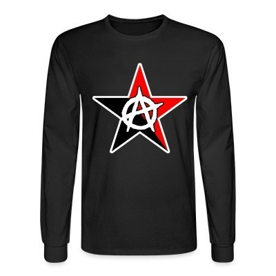 Manches longues Black & Red Anarchist Star