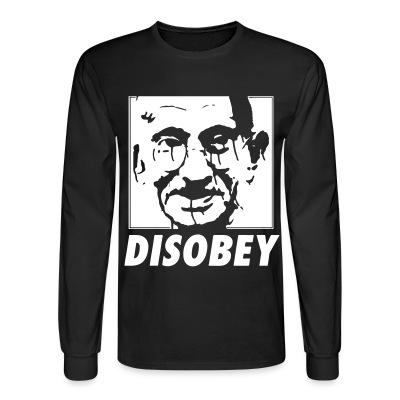 Manches longues Disobey (Gandhi)