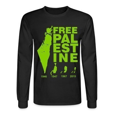 Manches longues Free Palestine 1946-2015