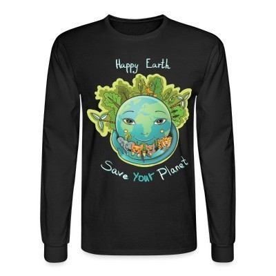 Manches longues Happy earth save your planet