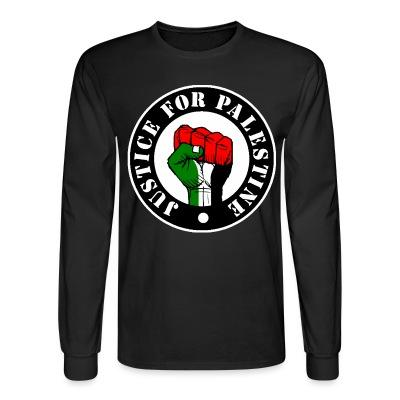 Manches longues Justice for palestine