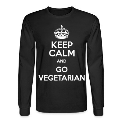 Manches longues Keep calm and go vegetarian