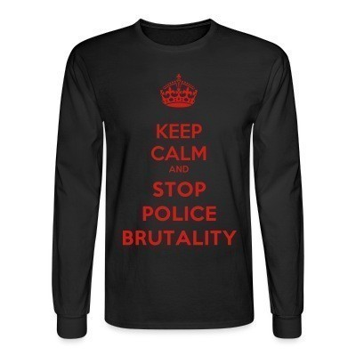 Manches longues Keep calm and stop police brutality