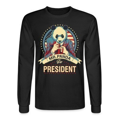 Manches longues Mr. Panda for president