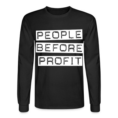 Manches longues People before profit