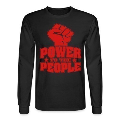 Manches longues Power to the people