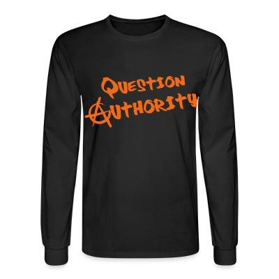 Manches longues Question authority