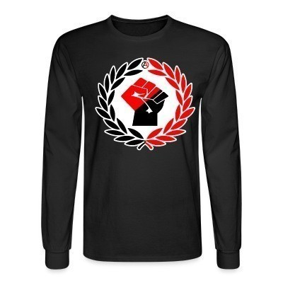 Manches longues Red & Black Raised Fist