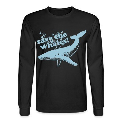 Manches longues Save the whales