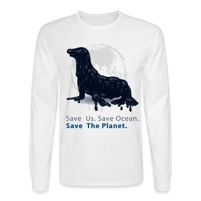 Manches longues Save us. Save ocean. Save the planet.