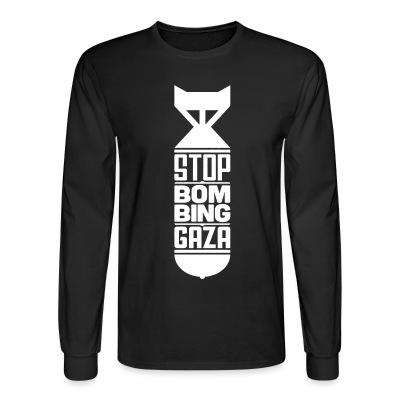 Manches longues Stop bombing Gaza