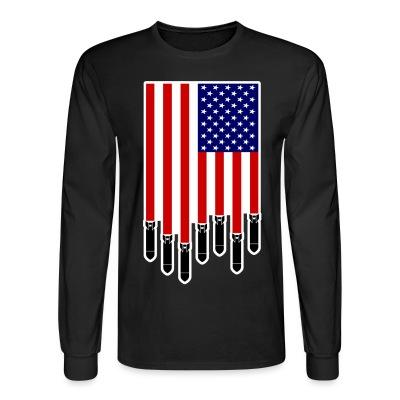 Manches longues USA Bombs Flag