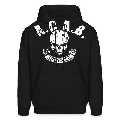 Sweat (Hoodie) A.C.A.B. antisocial