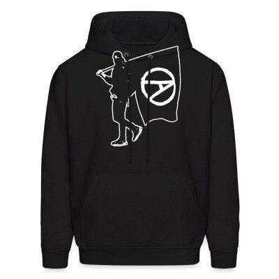 Sweat (Hoodie) Anarchist with Flag