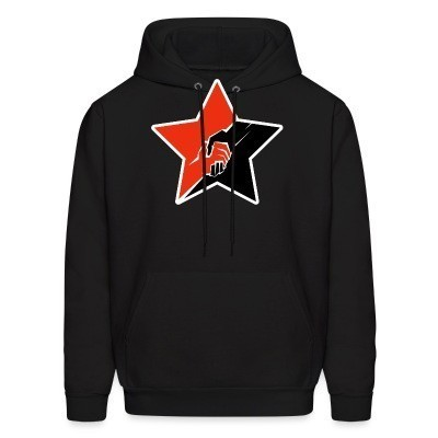 Sweat (Hoodie) Anarcho-Communist Red & Black Star