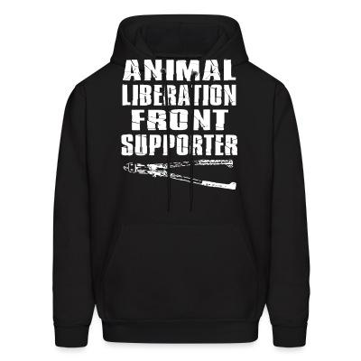 Sweat (Hoodie) Animal liberation front supporter