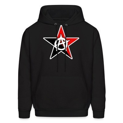 Sweat (Hoodie) Black & Red Anarchist Star