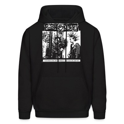 Sweat (Hoodie) Confuse - Contempt for the authority and take off the lie