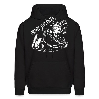 Sweat (Hoodie) Fight the rich