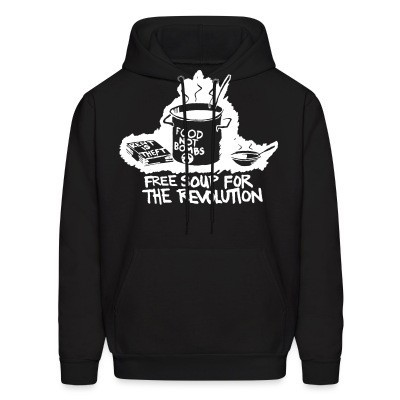 Sweat (Hoodie) Food not bombs - free soup for the revolution
