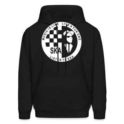 Sweat (Hoodie) Music is life, live a fun one - listen to ska