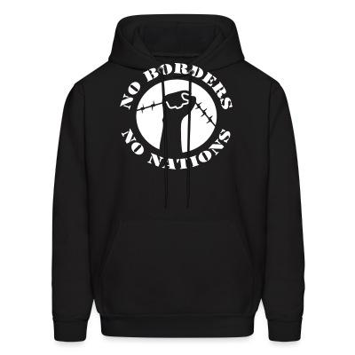 Sweat (Hoodie) No borders no nations