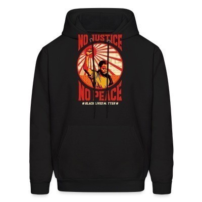Sweat (Hoodie) No justice no peace - black lives matter
